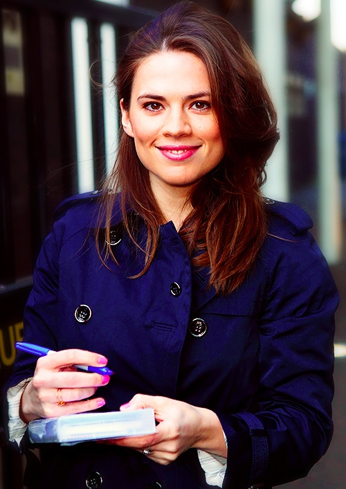 HALEY ATWELL: from the Avengers as Peggy