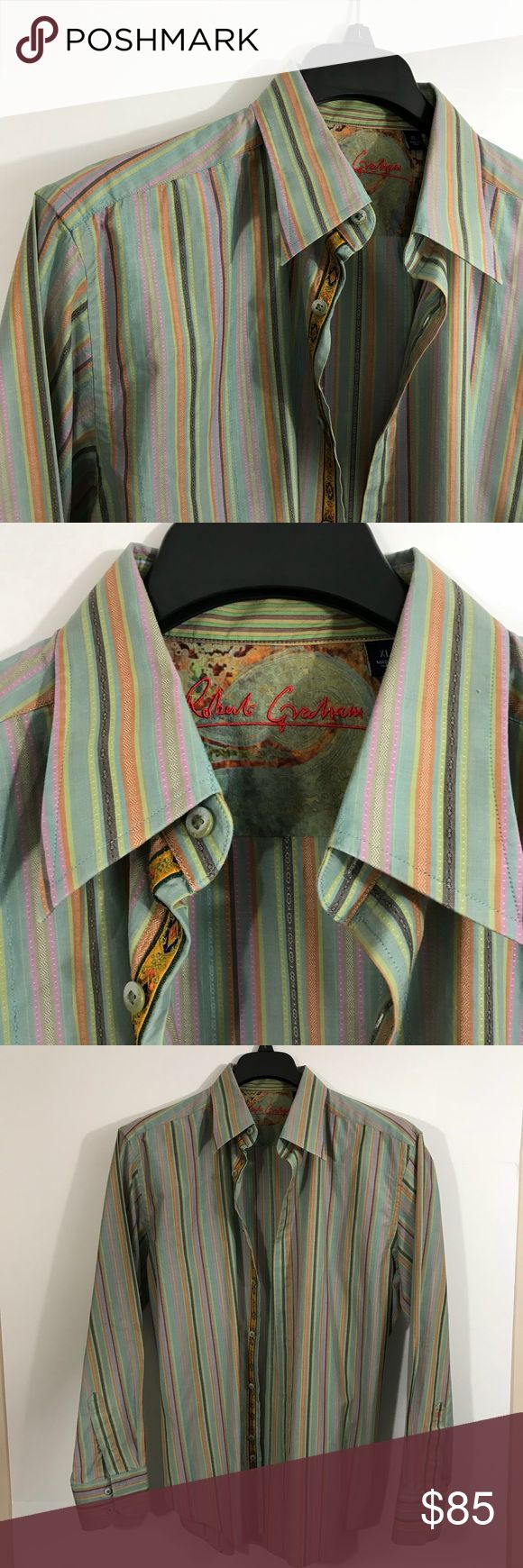 🔥🔥🔥 Robert Graham New without Tags. Perfect. Awesome Shirt as are all Robert Grahams. Robert Graham Shirts Casual Button Down Shirts