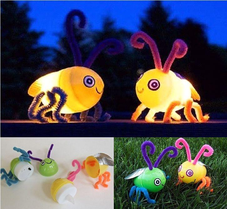 Make these Cute gloing Fireflies to help your kids feel a little bit of magic  #diy #crafts #kids