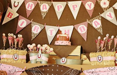 Blog with all SORTS of cute ideas for a cowgirl party!