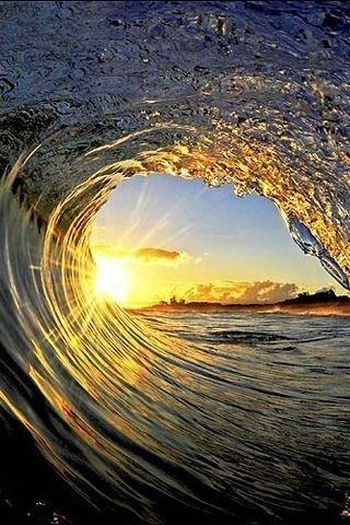 Wave water sun