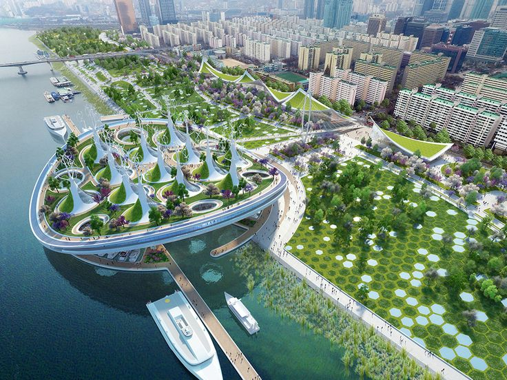 Vincent Callebaut conceives floating ferry terminal shaped like a manta ray in Seoul