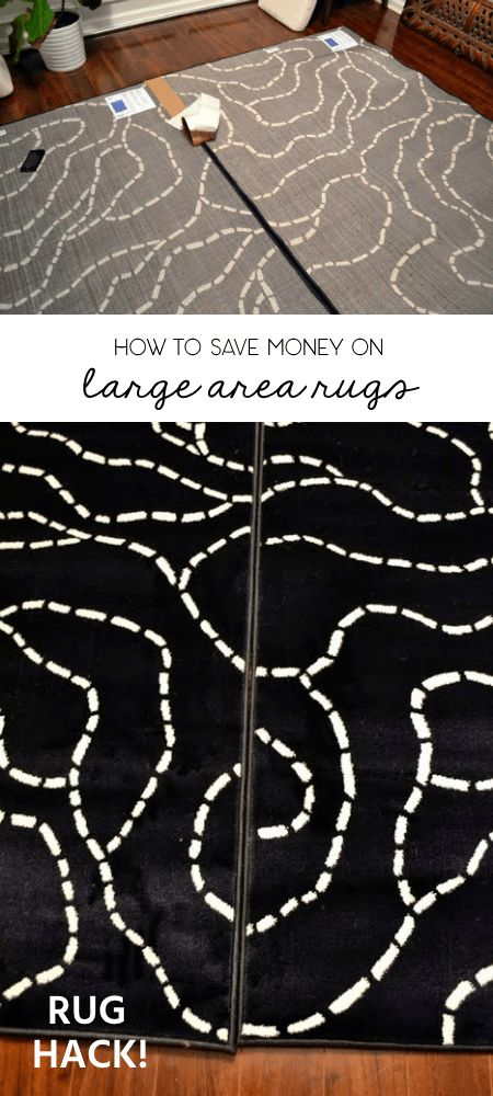 I saved hundreds of dollars on a new rug for the dining room. Use this easy hack to save on large area rugs!