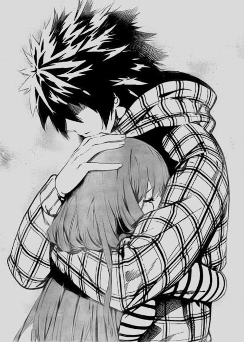 25 best ideas about anime couples hugging on pinterest - Anime hug pics ...