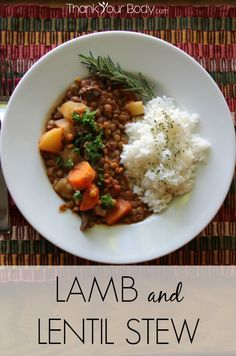 Lamb and Lentil Stew...savory lamb and vegetables, simmered all day in the slow cooker.