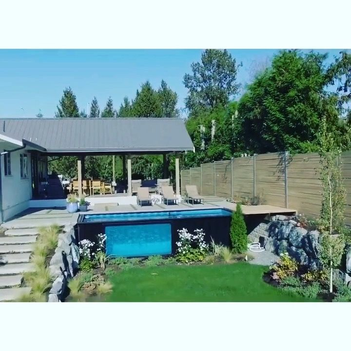 1000 ideas about shipping container pool on pinterest for Shipping container pool house