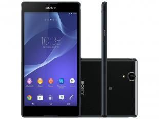 "Smartphone Sony Xperia T2 Ultra Dual Chip 3G - Android 4.3 Câm. 13MP Tela 6"" Proc. Quad Core"