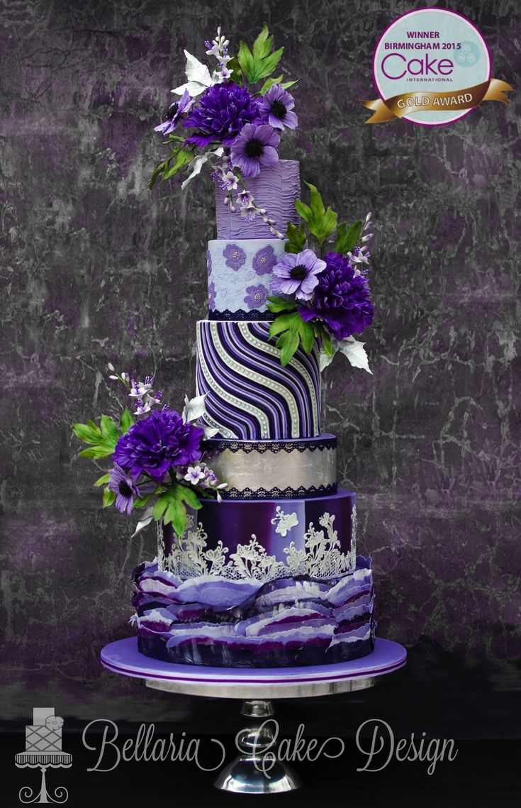 Here is my winning entry for wedding cake category which...