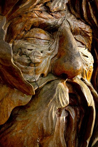 Autumn Green Man Woodface