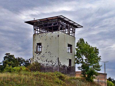 Ehemaliger Wachturm Deutsch-Deutsche Grenze Mellrichstadt Schanz und Meiningen