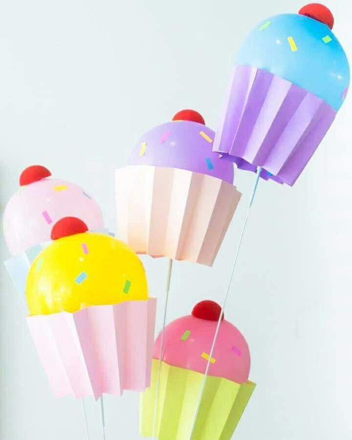 Balões cupcakes
