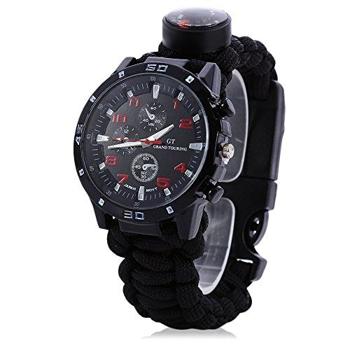 Yans Yancorp 7 in 1 Paracord Bracelet Watch with 3.6 meters Paracord Rope, Compass, Thermometer, Whistle, Yancorp is a professional large-scale international trading company and a professional manufacturer with International registered trademark Yancorp.andlt