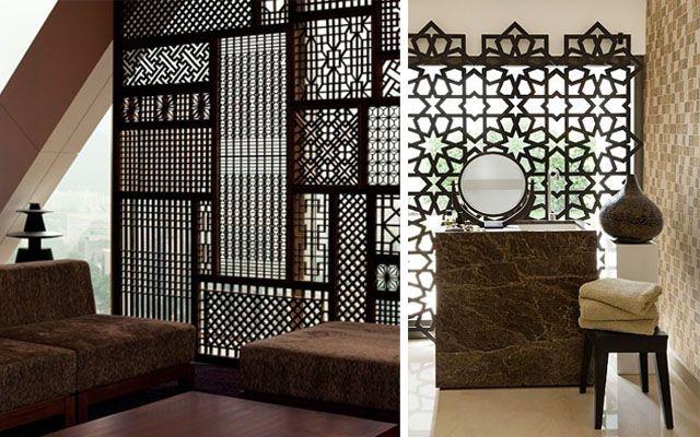 Celos as y paneles m viles como separadores de espacios - Celosias de madera ...