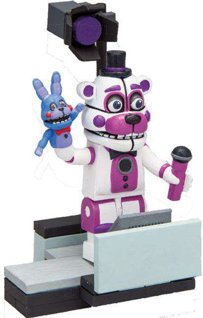 McFarlane Toys Five Nights at Freddy's Spotlight Stage Left Micro Figure Build Set [Funtime Freddy] (Pre-Order ships May)