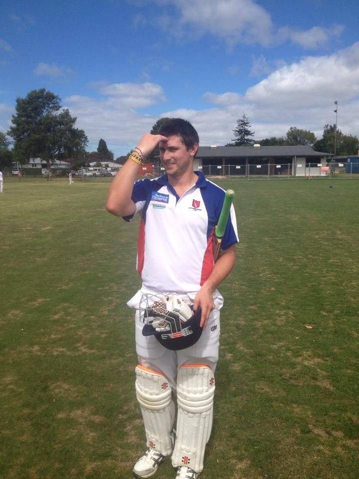 The Big Bird Daniel Schischka after a brilliant hundred. Dude has an awesome straight drive and sweep shot