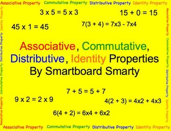 The 47 best images about Math Properties-Comm, Assoc, Distr on ...