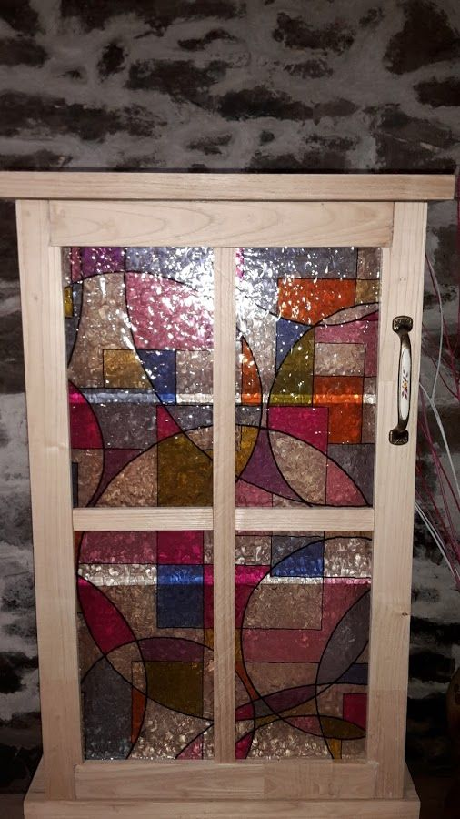 Armario de baño efecto vidriera | Bricolaje