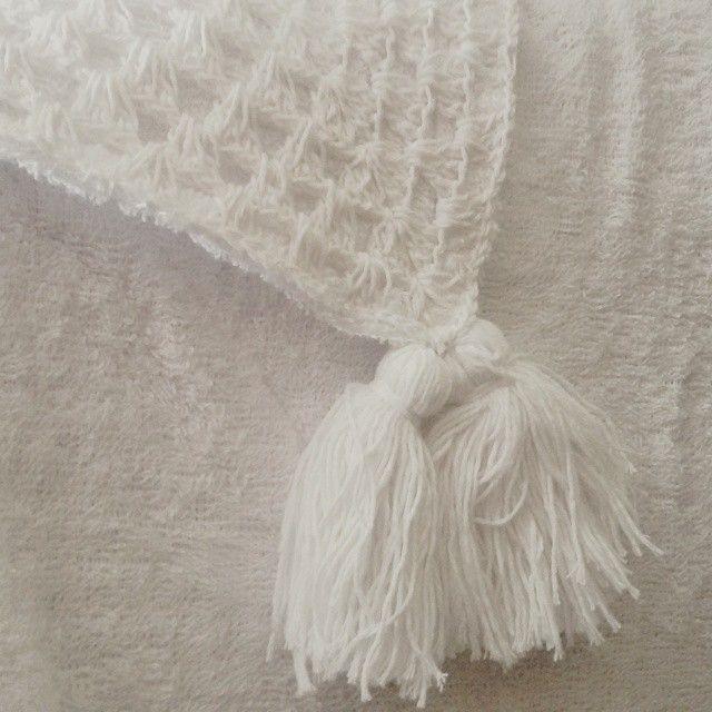 New Crochet Towel :) Handmade and 100% natural cotton #coolturaTrends #handWoven #naturalFibers #bali #handmade #naturalCotton #white #ss15