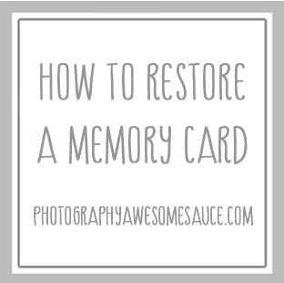 How to Restore a Memory Card