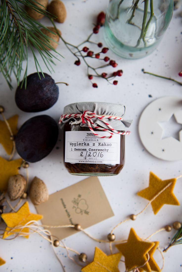 Konfitura śliwka z czekoladą i owocem czeremchy • Manufaktura Cieleśnica