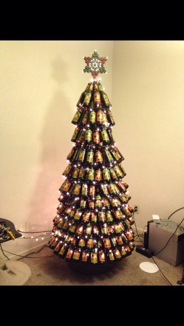 My shock top beer bottle christmas tree b e e r pinterest for How to make a beer bottle christmas tree