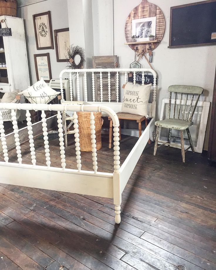 Jenny Lind, Spindle Bed And Navy Master Bedroom