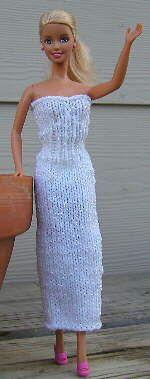 Barbie models her knit tube dress - free pattern