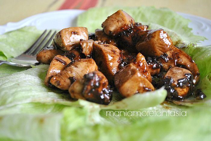 Bocconcini di pollo all'aceto balsamico