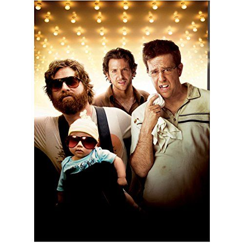The Hangover (2009) 8 Inch x10 Inch Photo Ed Helms Knocked Out Tooth Zach Galifianakis w/Baby & Bradley Cooper in Backg @ niftywarehouse.com #NiftyWarehouse #Nerd #Geek #Entertainment #TV #Products