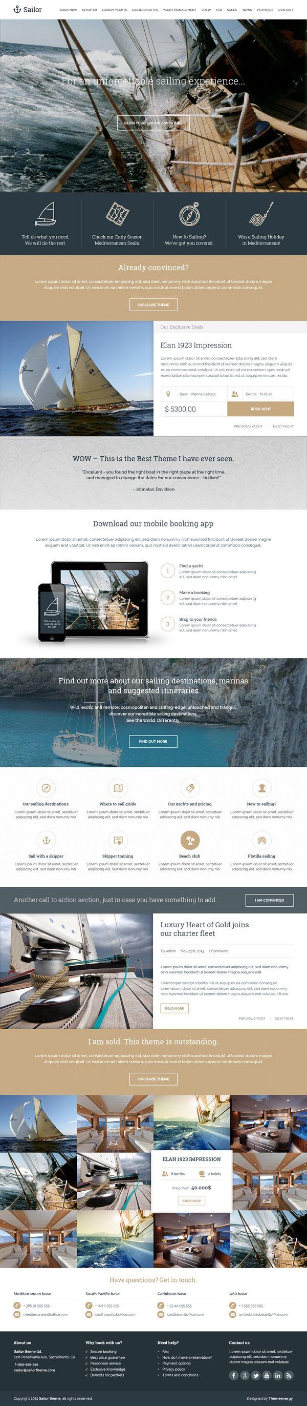 Sailor Yacht Charter Booking PSD Template