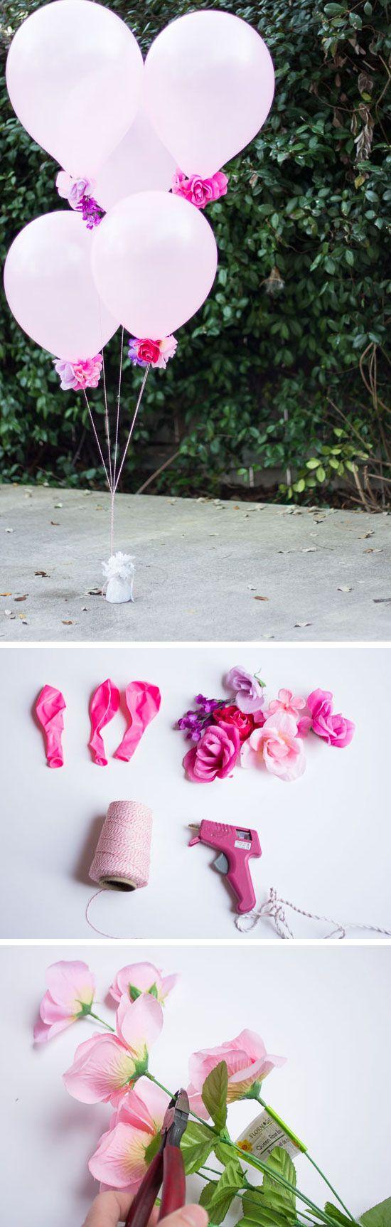 Flower Balloons | Click Pic for 22 DIY Summer Wedding Ideas on a Budget | DIY Garden Wedding Ideas on a Budget