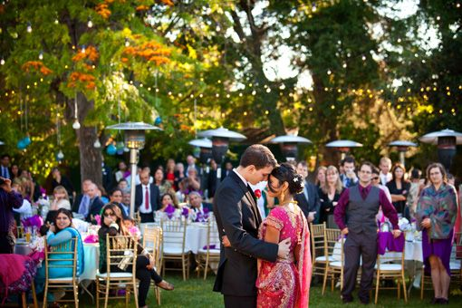 Beautiful Outdoor Indian Wedding Reception - 3 - Indian Wedding Site Home - Indian Wedding Site - Indian Wedding Vendors, Clothes, Invitations, and Pictures.