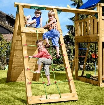 For indoor play. Just the climbing rope with a rock wall and slide on other side. Add some jumping opportunities.