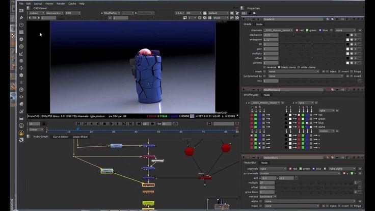 Урок CInema 4d Export to Nuke 3D scene