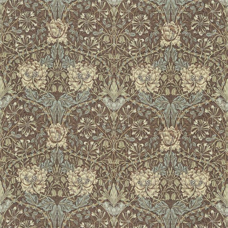 Buy William Morris and Co DMORHO201 Honeysuckle and Tulip Fabric | Morris Volume IV | Fashion Interiors