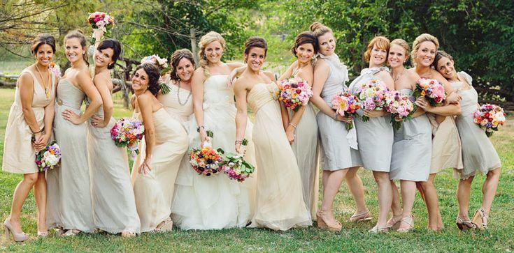 Best 25 Beige Bridesmaids Ideas On Pinterest: 25+ Best Ideas About Large Bridal Parties On Pinterest