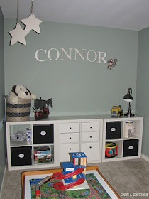 Ikea expedit for playroom - if we get 3 of the smaller ones