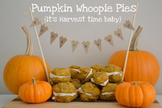 Pumpkin Whoopie Pies- one day when I have unlimited access to canned pumpkin I will make these!