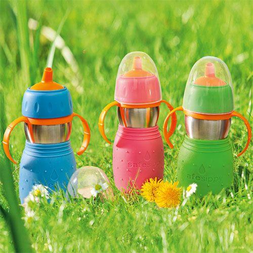 Trinkflasche Edelstahl mit Griff, 330 ml - Hochwertige, doppelwandige Edelstahl-Flasche ♥ sorgfältig ausgewählt ♥ Jetzt online bestellen!