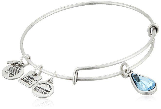 Alex and Ani Charity By Design Living Water International Rafaelian Silver Bangle Bracelet