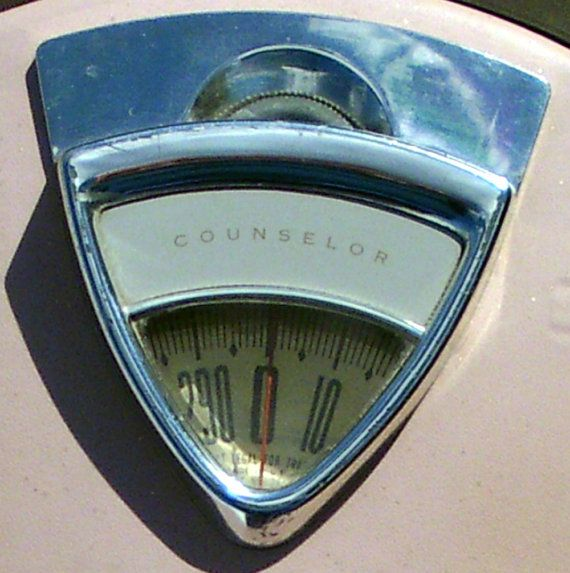 """Vintage Pink Bathroom Scale by DollFood on Etsy ... It is named """"Counselor"""" ... LOL!"""