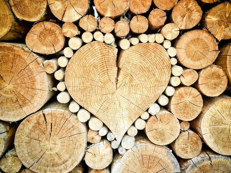 Heart from wood | Inspirowani naturą