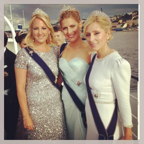 Princesses Theodora, Tatiana and Marie-Chantal of Greece