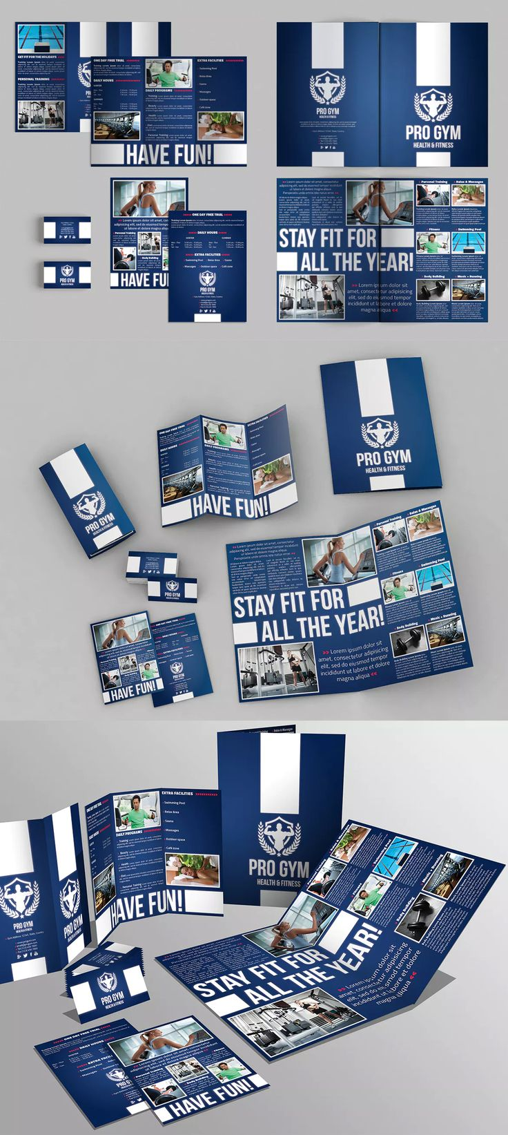 Set of Brochures Templates AI, EPS, INDD, PSD - A4 and US Letter Size