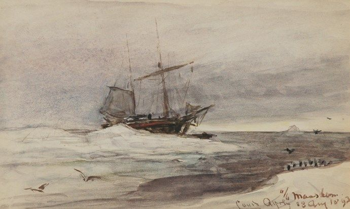 Lodewijk Franciscus Hendrik 'Louis' Apol (Den Haag 1850-1936) Aan boord van de Maasdam - Kunsthandel Simonis en Buunk, Ede (Nederland).