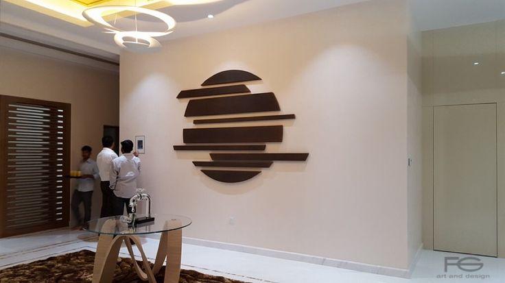 MOON Etched iron Size 180cm Private residence, Dubai, UAE https://instagram.com/p/9lBpOAosHd/