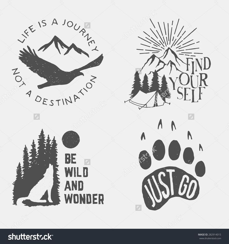 stock-vector-set-of-wilderness-hand-drawn-typography-posters-emblems-and-quotes-artworks-for-hipster-wear-282914015.jpg (1500×1600)