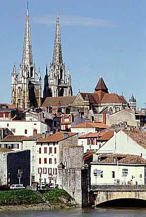 "(Chapter 10) ""Bayonne is a nice town. It is like a very clean Spanish town and it is one a big river"" (96). I liked walking around the town. Later on in the day, I went to that tall cathedral in the picture to pray. I prayed for everybody that I could think of. I would like to take Brett there, but she would not understand it."