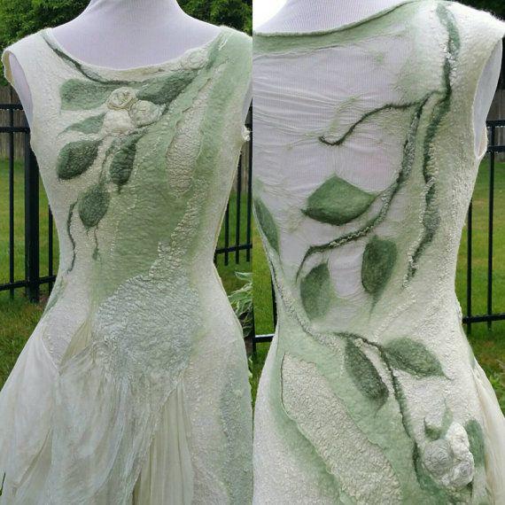 Nuno gefilzt Wald Fee Kleid. Gefilzte Pixie von Twigsimmortalized