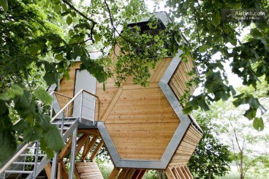 Une cabane dans les arbres à louer sur Airnbnb